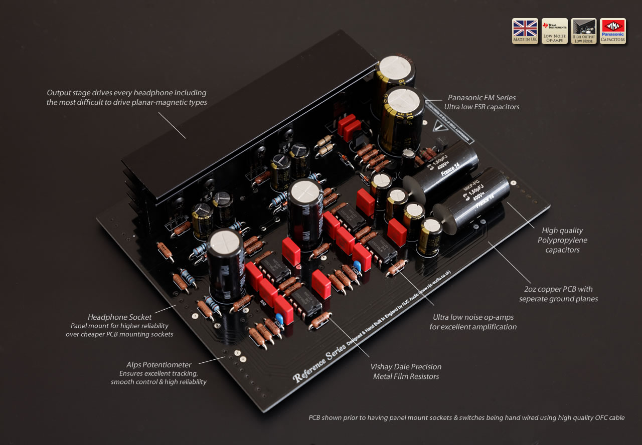 Reference Headphone Amplifier Low Noise Audio Preamplifier Circuit